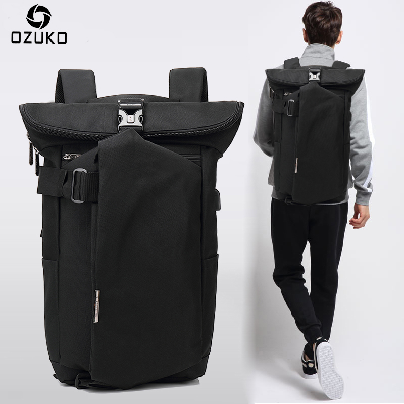 Detail Feedback Questions about OZUKO Brand 2018 New Korean Style Men s Backpacks  Fashion Laptop Computer Rucksack SchooL Bags Casual Travel waterproof ... 36dd00a39256e