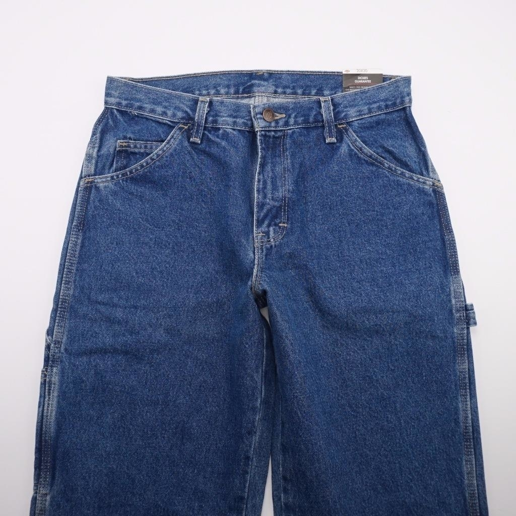 <font><b>DICKIES</b></font> NEW Relaxed Fit Carpenter <font><b>Jeans</b></font> Medium Wash Denim Mens 30x30