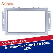 Seicane 2 DIN 173*98/178*100/178*102mm lato Frame Auto Radio DVD pannello del lettore Fascia Per Chrysler 300C Argento