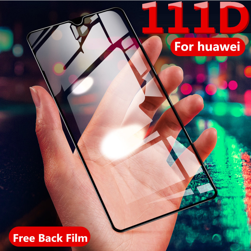 111D Protective Glass On The For Huawei P20 P30 Lite Tempered Screen Protector Cueved Edge Glass For Huawei P20 Lite P30 Film