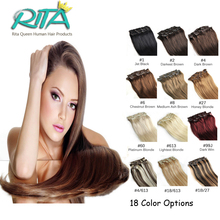 18 Color Brazilian Virgin Human Hair 7pcs Brazilian Straight Clip In Human Hair Extensions  Aplique Tic Tac Cabelo Humano