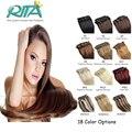 18 Цвет Бразильский Виргинский Человеческие Волосы 7 шт. Бразильские Прямо Клип В Человеческих Волос Tic Tac Aplique Cabelo Humano