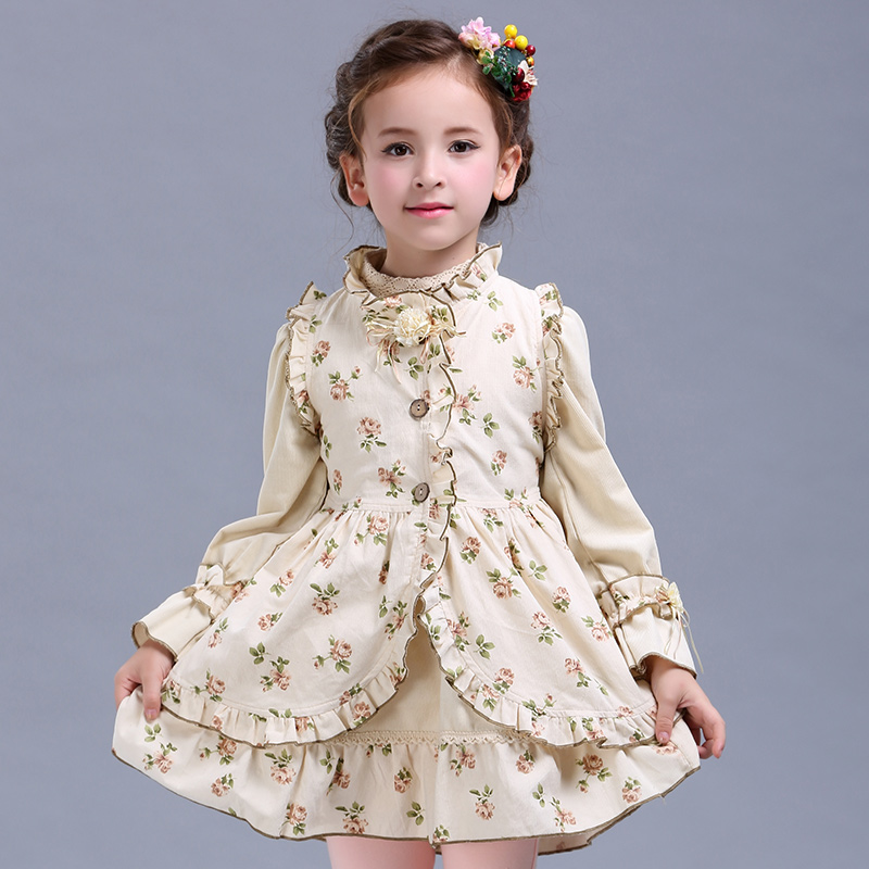 64f92ae09 Baby girl Clothing Set 2017 New Autumn Winter Kids 2 Piece Sets ...