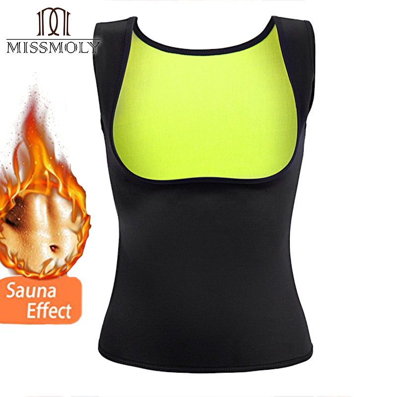 b9bfe041802f8 Miss Moly Thermo Top Neoprene Body Shaper Woman Cincher Sweat Waist Trainer  HOT Sauna Shapewear Push Up Vest Slimming Corset-in Tops from Underwear ...