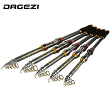 DAGEZI High Quality Carbon Fiber Telescopic Fishing Rod 2.1/2.4/2.7/3.0/3.6m High Performance Sea Fishing Pole pesca
