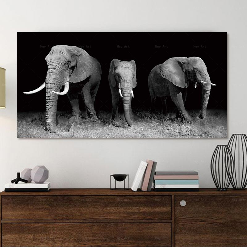 Poster Canvas art Pictures Wall Animal cat Art Painting No Framex canvas wall elephant cuadros decoracion salon