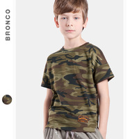 Boys tops tees original tide fashion brand Cool Design army Camouflage T-Shirt short sleeved Camouflage T-shirt boys 2017 summer