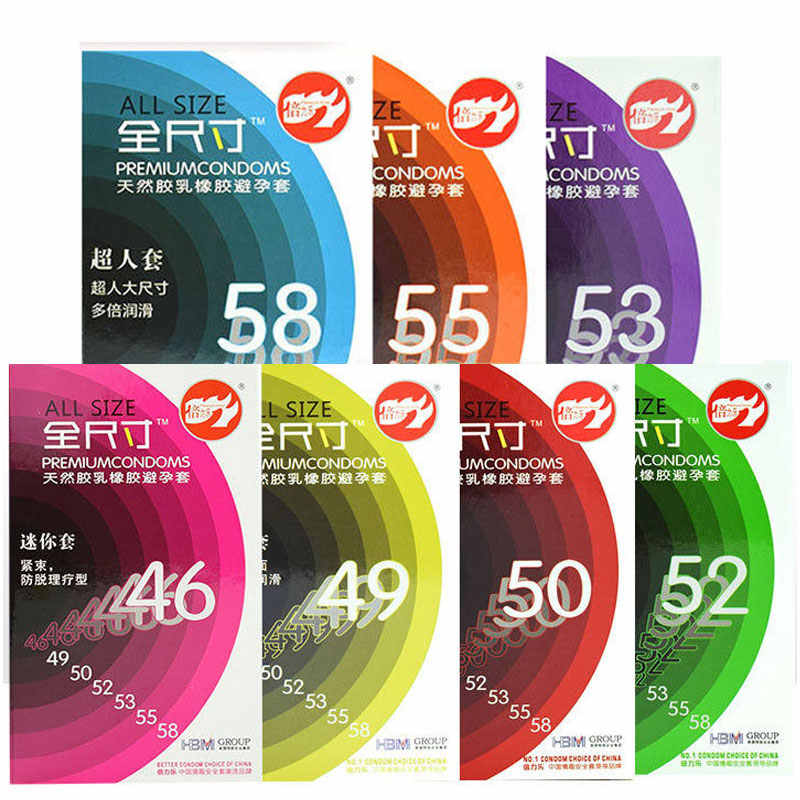 20PCS BeiLiLe All Size 46mm 49mm 50mm 52mm 53mm 55mm 58mm Thin Large Size Big Condoms for Big Cock Horny Men Women Lubricant