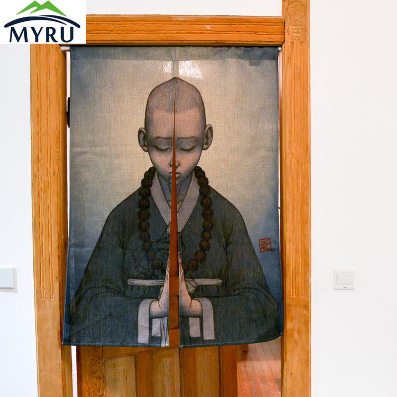 puerta cortina cortina corta de verano chino japons pequeo monje zen cortina cortina