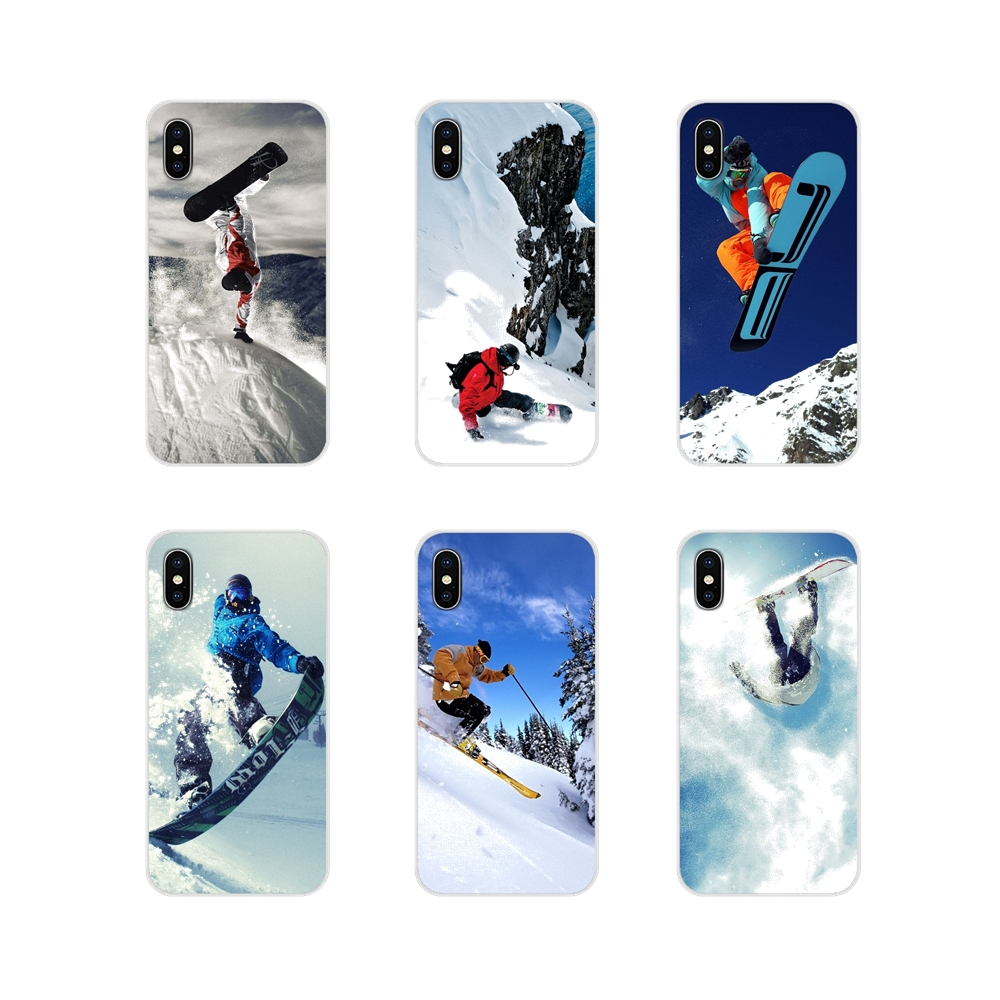For Samsung Galaxy A5 A6S A7 A8 A9S Star J4 J6 J7 J8 Prime Plus 2018 Accessories Phone Cases Covers Snow Or Die Ski Snowboard