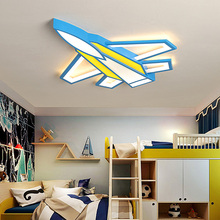 Modern led ceiling light airplane kids baby home lighting bedroom lightis for children room boys blue AC85-265V lamp