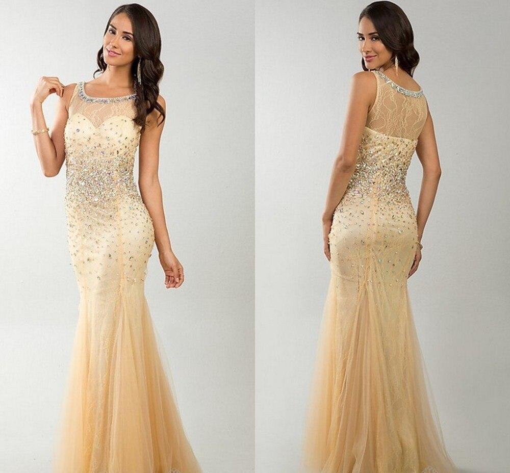 Vestido De Festa 2018 Free Shipping Custom Made Elegant Crystal Beaded Designer Prom Champagne robe de soiree   bridesmaid     dresses