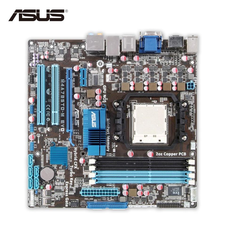 Asus M4A785TD-M EVO Desktop Motherboard 785G Socket AM3 DDR3 SATA2 USB2.0 uATX Second-hand High Quality asus p5qpl am в киеве