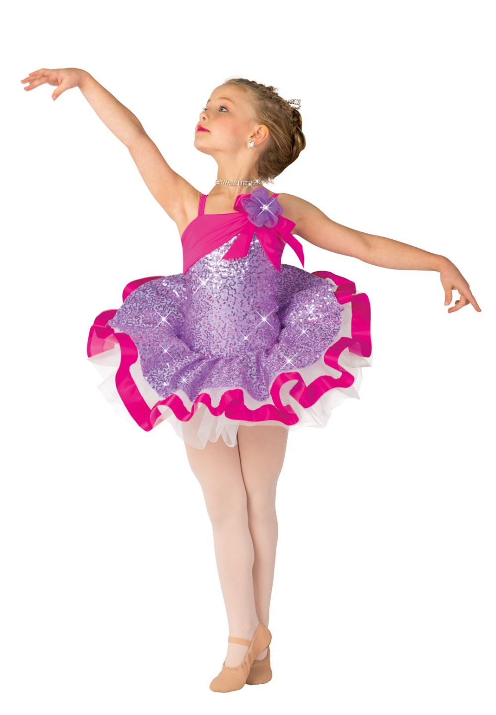 2 in 1 costume set for dancing girls ballet tutu