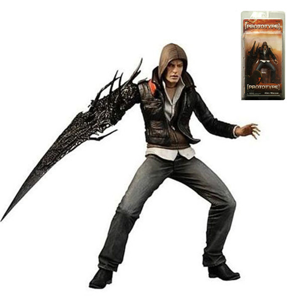 "Wholesale/Retail Free Shipping FS Neca <font><b>Prototype</b></font> <font><b>Alex</b></font> Mercer 17cm/7"" <font><b>Action</b></font> <font><b>Figure</b></font> in Pack NE022001"