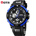 OTS Brand Men Sport Watches LED Digital Watch Men Quartz Watch Rubber Band Men Fashion Casual Wrist Watch Relogio Masculino 8147