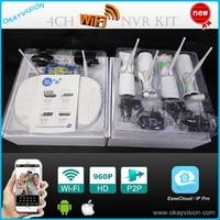 4CH P2P Wireless 1 0MP Camera Kit 720P HDMI P2P ONVIF NVR WIFI IP Camera Outdoor