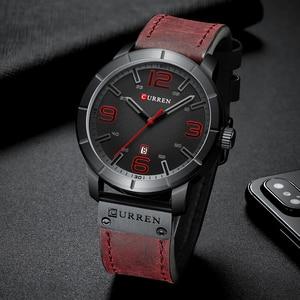 Image 2 - Мужские часы 2019 CURREN Мужские кварцевые наручные часы мужские часы лучший бренд роскошные кожаные Наручные часы с календарем