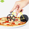 1pcs Creative Stainless Steel Bicycle Shape Pizza Cutter Yellow Blue Red Pizza Cutter Round Wheel Kinfe Desk Decor Pizza Tools
