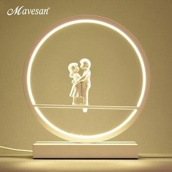 LED couples Table Lights for Bedside Bedroom Table Lamp Desk Light white black body Study Room Bedroom Lighting LED home fixture