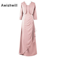 Vestido Longo De Festa Formal Dresses Long Robe Soiree 2019 New Arrival With Jacket Mother Of The Bride Dress Women Evening Gown