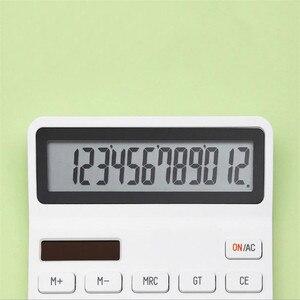 Image 4 - Xiaomi Mijia Lemo Desktop Rekenmachine Optische Dual Drive 12 Nummer Display Automatische Uitschakeling Calculator Voor Kantoor Financiën