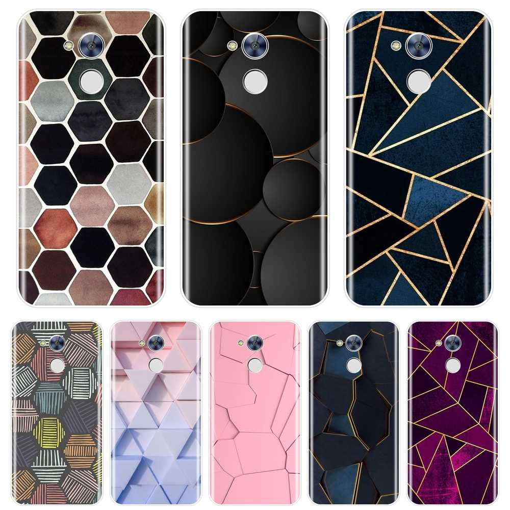 Luxe Geometrie Fashion Cool Back Cover Voor Huawei Honor 4C 5C 6A 6C Pro Soft Phone Case Siliconen Voor Huawei honor 6 5A 4X 5X 6X
