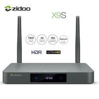 ZIDOO X9S TV 상자 4 천개 * 60fps의 HD HDMI 2.0 안드로이드 6.0 쿼드 코어 HDMI 2.0 BT4.0 셋톱 박스