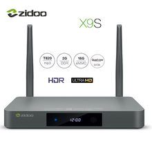 ZIDOO X9S TV BOX 4 K * 60fps HD HDMI 2.0 Android 6.0 Quad-Core HDMI 2.0 BT4.0 Dekoderów Dual Band WIFI 2G + 16G IPTV Media odtwarzacz