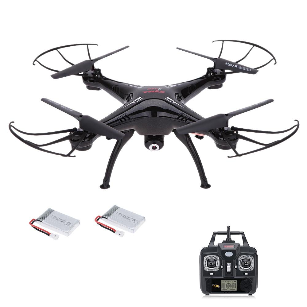 цена на SYMA X5SC 2.4G 6-Axis Gyro 2.0MP Camera Drone Headless Mode 3D Flip RC Quadcopter RTF with One Extra Battery