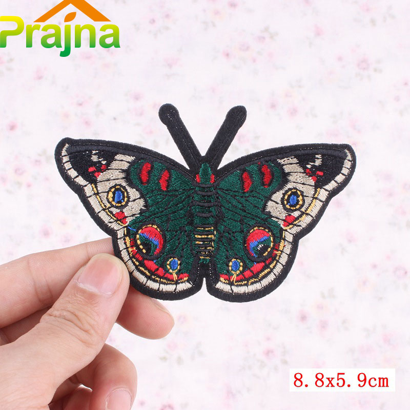 Butterfly Patch Iron On Sew On Embroidered Skull Badge Embroidery Star Applique
