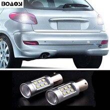 BOAOSI 2x Canbus P21W BA15s 1156 светодиодный резервная копия свет лампы для peugeot 307 206 2008 207 308 4008 508 5008 301