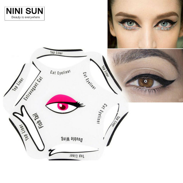 6pcs Eyebrow Stencil Mold Guide Shaper Template Permanent Make Up
