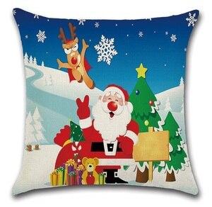 Image 5 - 2 יחידות הנורה צבי חג המולד סנטה גרבי עץ חדר שינה ספת כרית מקרה כרית כיסוי כרית כיסוי כרית דקורטיבי בית מתוק