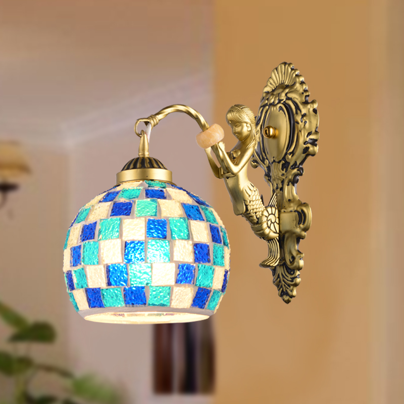 Mosaic wall lamp rustic balcony aisle lights bed-lighting mermaid wall lamp mirror light DY-1154 modern lamp trophy wall lamp wall lamp bed lighting bedside wall lamp