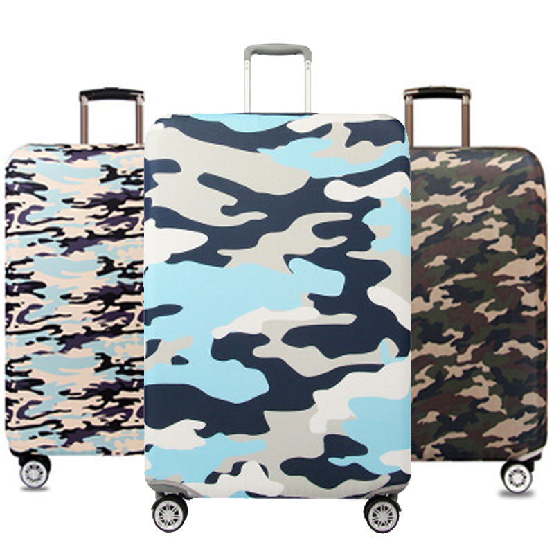 OLAGB Camouflage Suitcase Protective Covers Elastic Thick Luggage Dustproof Cover For 18''-32'' Case Travel Accessories 306