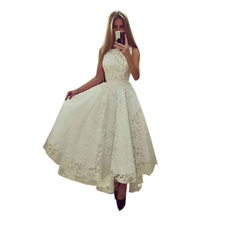Sexy Womens Summer Sleeveless Irregular Lace Dress Formal Party Long Maxi Dress Wedding Bridemaid Gown Dress