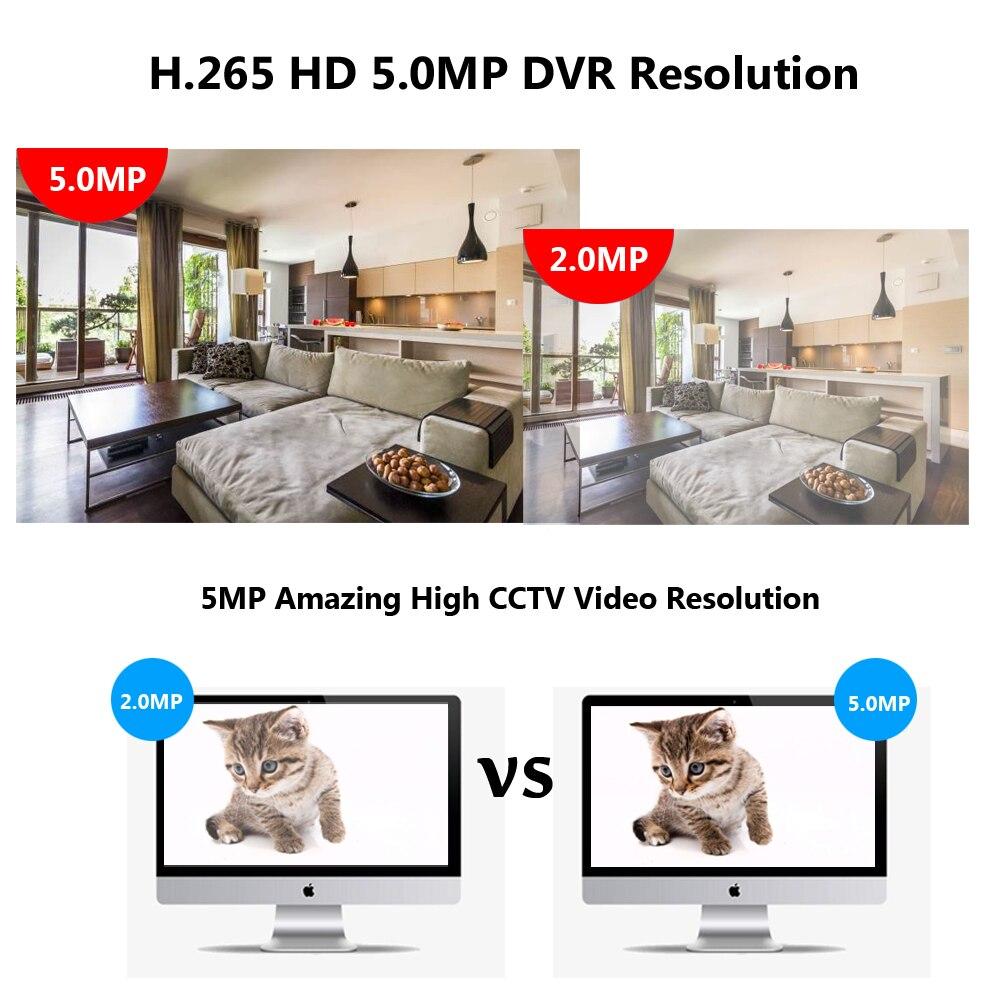 1080P 4MP 5MP 5in1 CVBS 4CH CVI TVI AHD CCTV NVR Gravador DVR suporte de Detecção De Movimento e Registro 5 modo - 4
