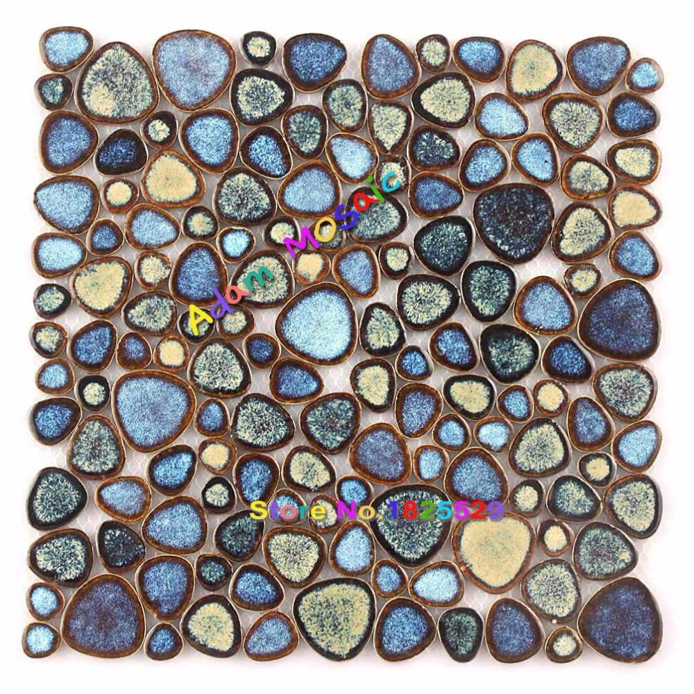 Schwimmbad Fliesen Küche Bodenfliesen Blau Kieselmosaik Dusche Wand  Badezimmer Mosaik Porzellan Design