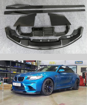 Car Carbon Fiber Bumper Spoiler Lip Diffuser Cover , Car Side Skirt ,Car Spoiler Fits For BMW F87 M2 2015 2016 2017 2018 2019