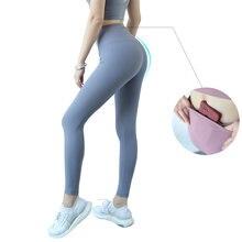 Kadın Yoga Pantolon Spor Şınav Spor Tayt Kadın Spor Yüksek Bel Spor Tayt Anti-ter Kadın Legging ile cepler
