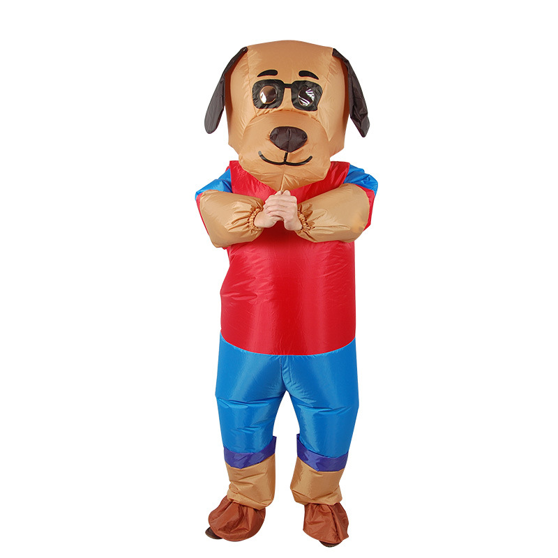 New Design dog Cartoon Inflatable Costume Adult Cosplay Clothing Party Funny Props for Halloween blow up