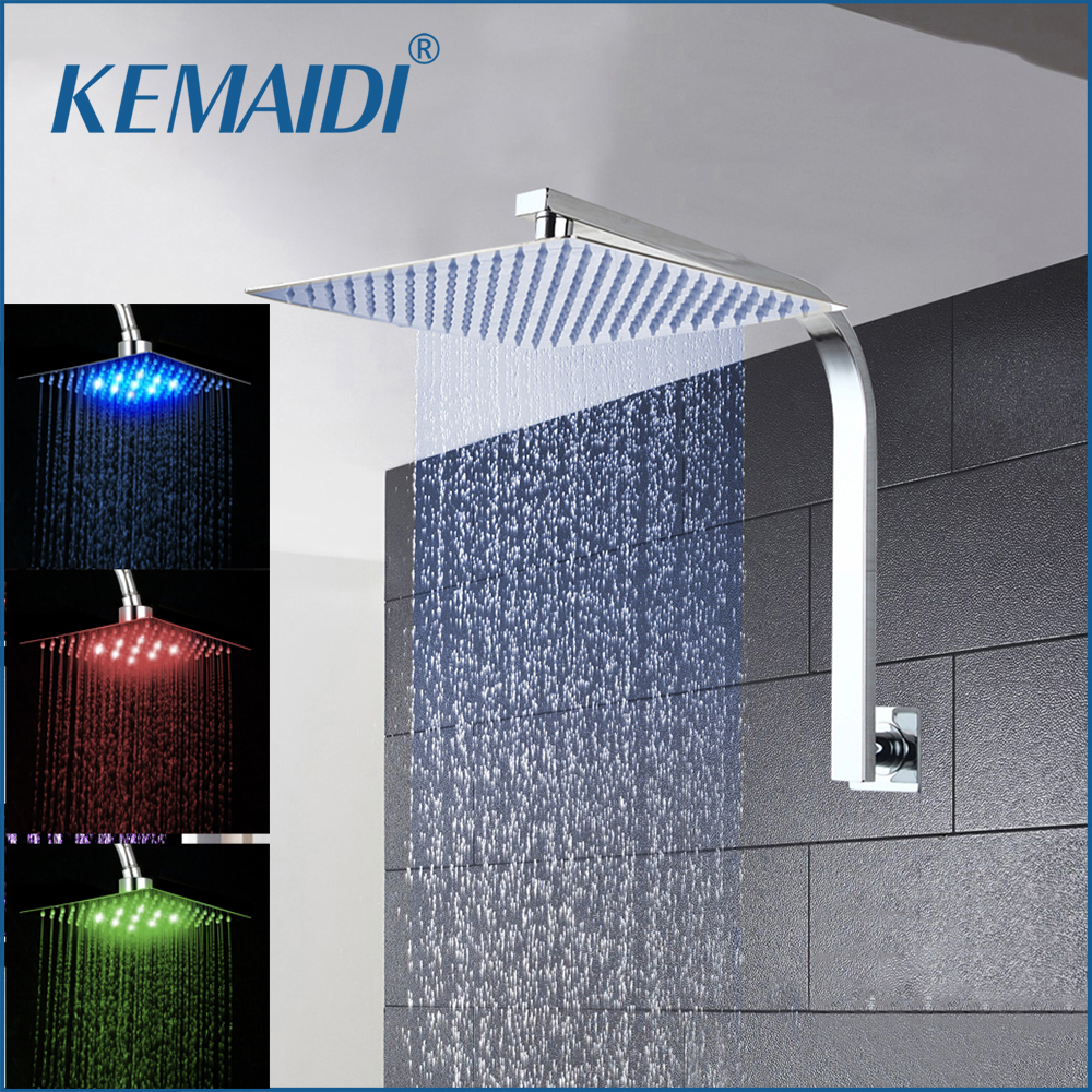 KEMAIDI 8 12 16 Rainfall Shower Head System Bath Shower Faucet With Shower Arm Hand Spray