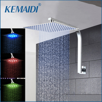 KEMAIDI 8 12 16 Rainfall Shower Head System Bath & Shower Faucet With Shower Arm&Hand Spray Bathroom Rain Mixer Shower Set