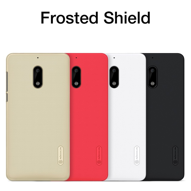 NILLKIN 5.5'' for nokia 6 case cover Frosted PC Plastic back cover Screen Protector For nokia 6 mobile android 2017 case capa