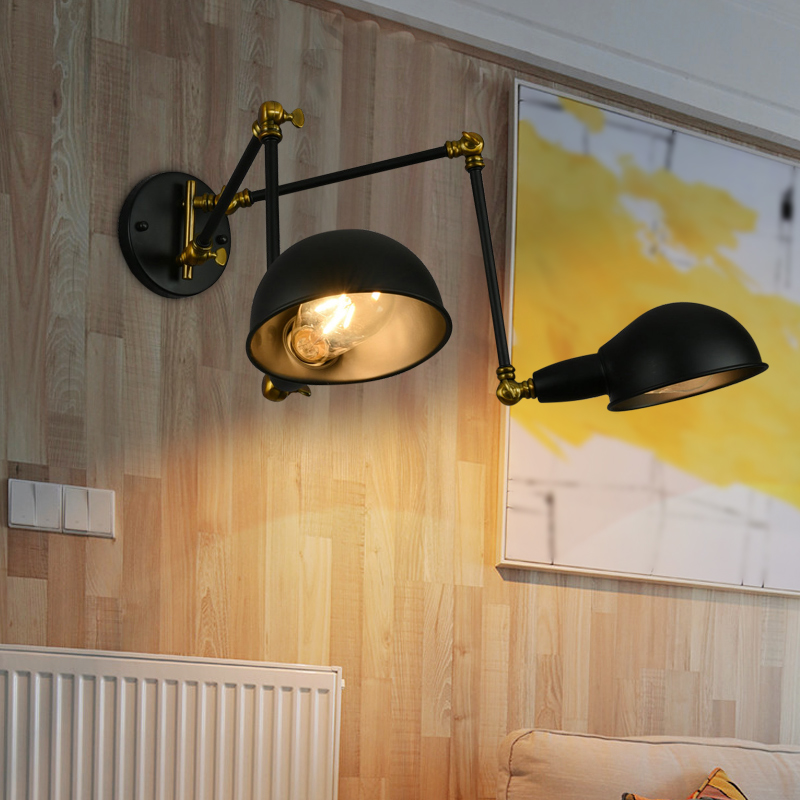 RH loft wall lamp mechanical arm france Jielde wall lamp reminisced retractable double vintage,folding rod lamp rh vintage long hoaxed loft double slider wall lamp american stair bed lighting