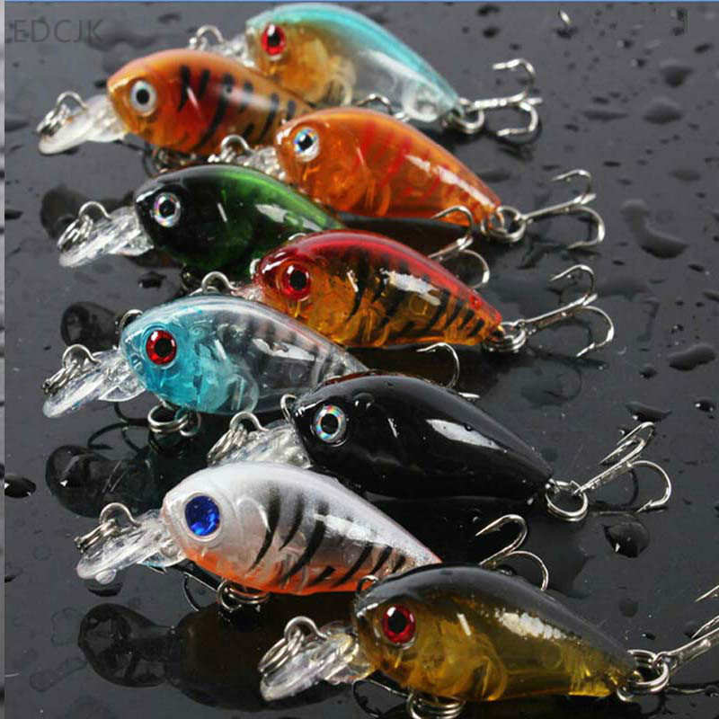 Fishing Lure Tackle Carp Mini Crankbait Wobbler Swim Bait Plastic Hard Bait Lures Isca Artificial 3D Fish Hook Wobbler Hooks Sea
