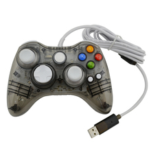 xunbeifang 50pcs Wired PC USB Controller gamepad joystick for xbox360 Game Controller LED Light for Xbox 360 Black