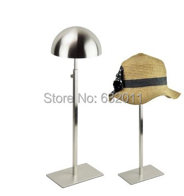 matte silver Metal Hat display stand hat display rack hat holder cap display hat holder rack купить