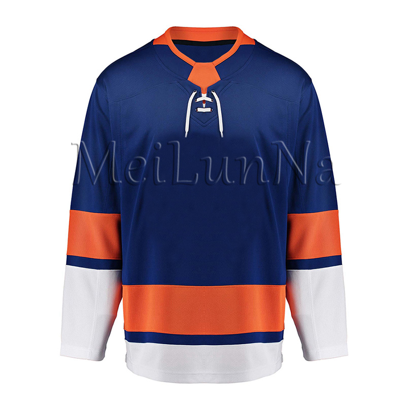 Anders Lee Mathew Barzal Mike Bossy Andrew Ladd Cal Clutterbuck Josh Bailey Men Women Youth New York Blank Hockey Jerseys